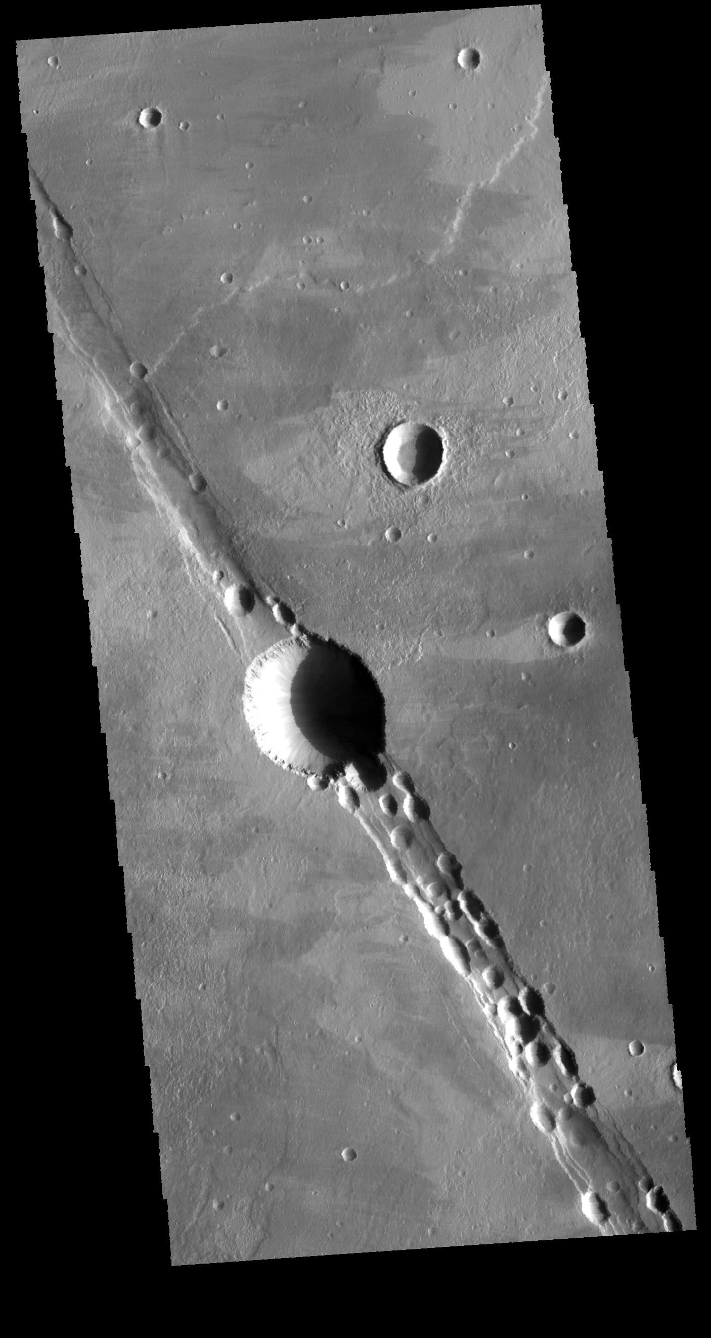 Cyane Fossae | Mars Odyssey Mission THEMIS