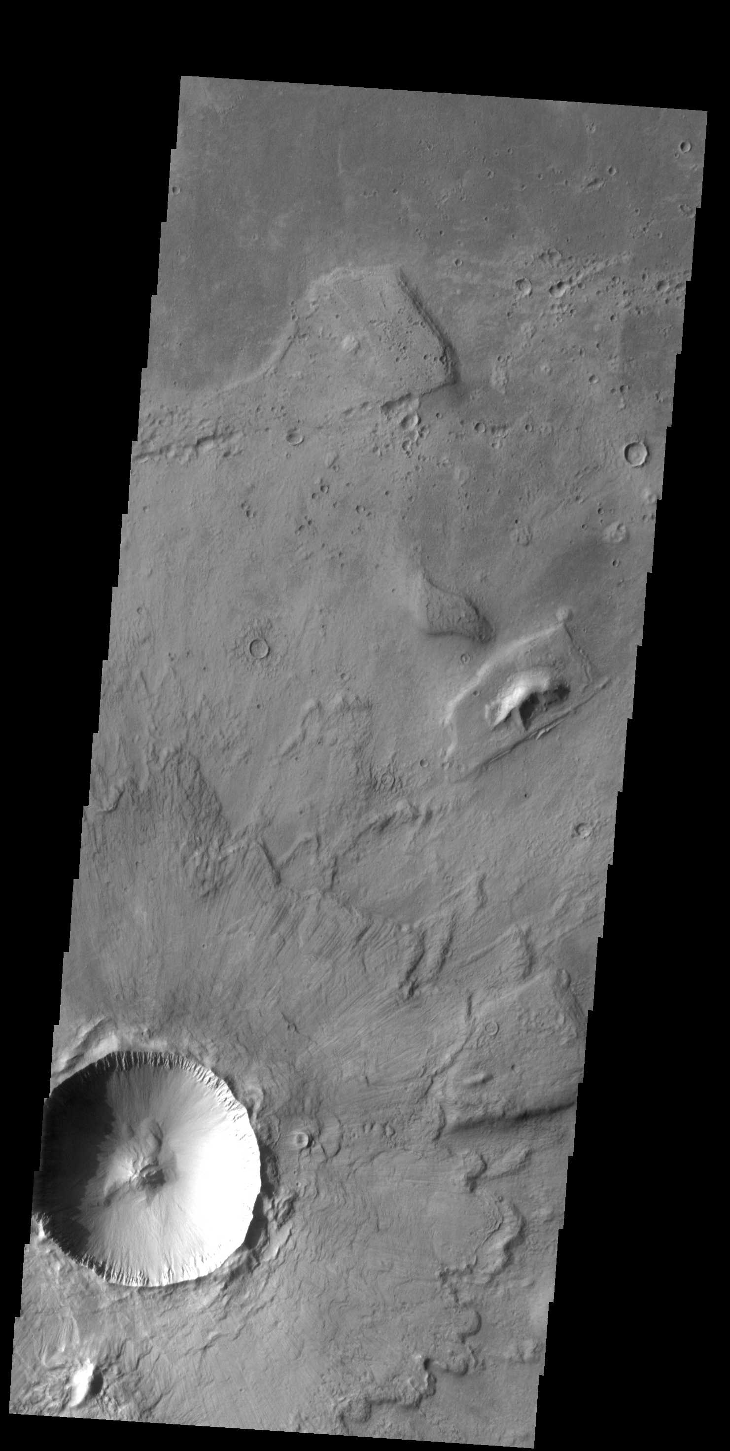 Crater Ejecta | Mars Odyssey Mission THEMIS